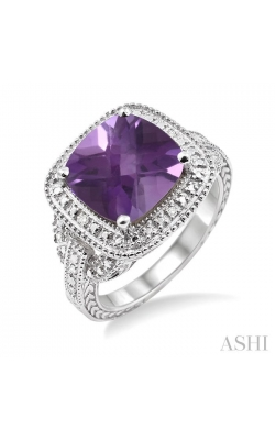 SILVER GEMSTONE & DIAMOND RING 88139DHSSAMSLRG product image