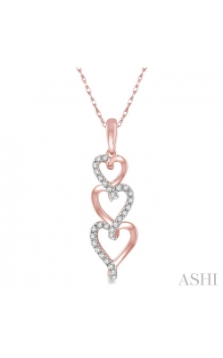 TRI HEART SHAPE DIAMOND PENDANT 98218DHTSPDPG product image
