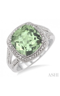 SILVER GEMSTONE & DIAMOND RING 88539DHSSGASLRG product image