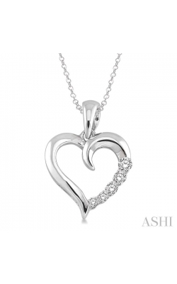 SILVER JOURNEY HEART SHAPE DIAMOND PENDANT 86799DHSSSLPD product image