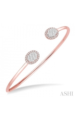 OVAL SHAPE LOVEBRIGHT ESSENTIAL CUFF OPEN DIAMOND BANGLE 7987HDHFVPW product image