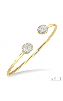 OVAL SHAPE LOVEBRIGHT ESSENTIAL CUFF OPEN DIAMOND BANGLE 7987HDHFVYW product image