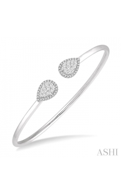 PEAR SHAPE LOVEBRIGHT ESSENTIAL CUFF OPEN DIAMOND BANGLE 7993HDHFVWG product image