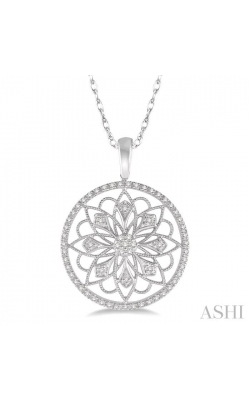 CIRCLE FLORAL DIAMOND PENDANT 98567DHTSPDWG product image
