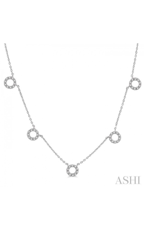 CIRCLE DIAMOND STATION NECKLACE 995A0DHTSNKWG product image