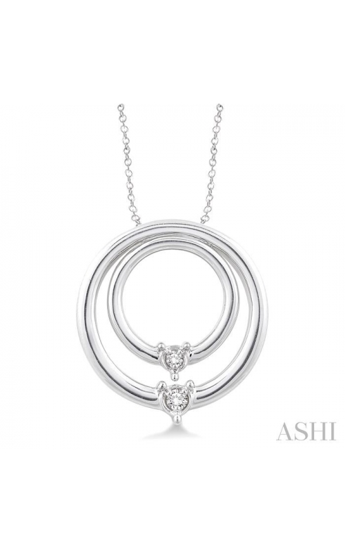 SILVER CIRCLE DIAMOND PENDANT 86519DHSXSLPD product image