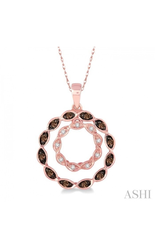 CIRCLE CHAMPAGNE DIAMOND PENDANT 98098DHFSPDPG product image