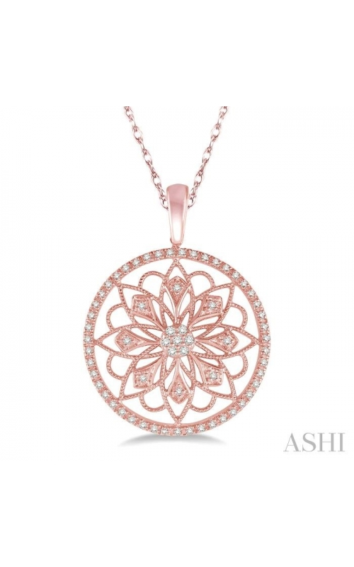 CIRCLE FLORAL DIAMOND PENDANT 98567DHTSPDPG product image