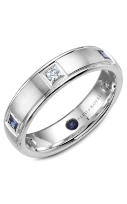 Bleu Royale Wedding Band Men's Wedding Bands RYL-016WDS55 product image