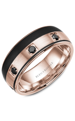 Bleu Royale Wedding Band Men's Wedding Bands RYL-019RBD85 product image
