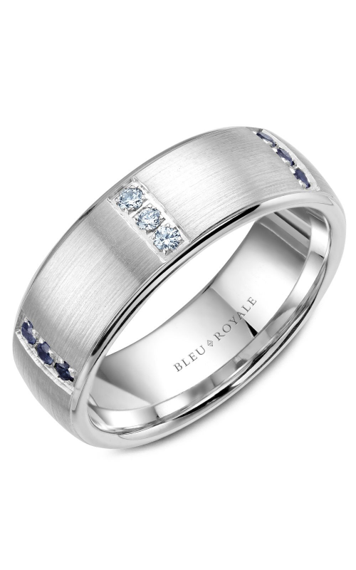 Bleu Royale Wedding band Men's Wedding Bands RYL-008WDS75 product image