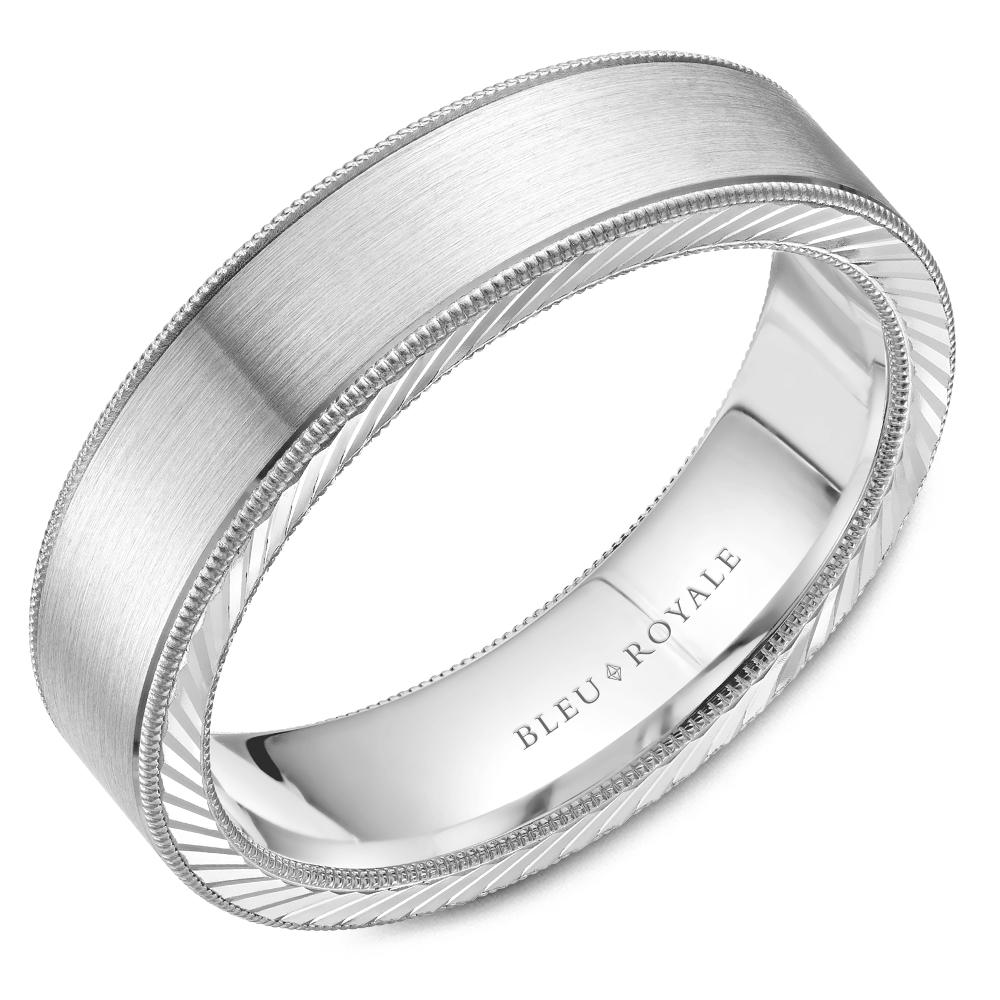 Bleu Royale Men's Wedding Band RYL-078W6 product image