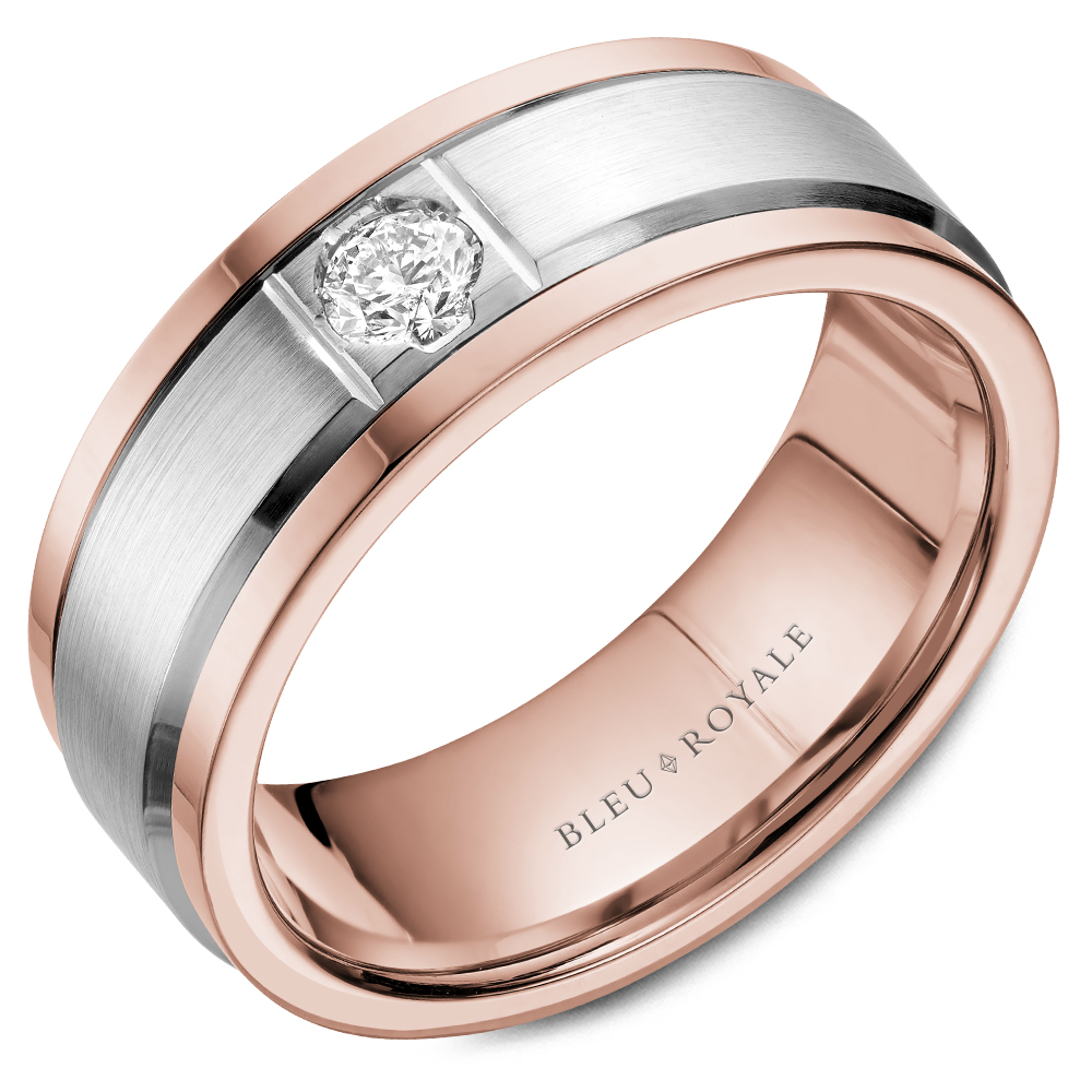 Bleu Royale Men's Wedding Band RYL-084WRD8 product image