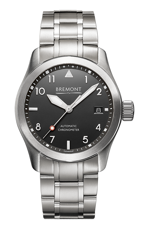 Bremont Solo Watch SOLO-37/BK-SI/BR product image