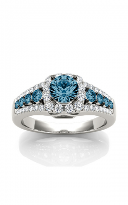 Bridal Bells 14K Blue & White Diamond Engagement Ring WB6016EC product image