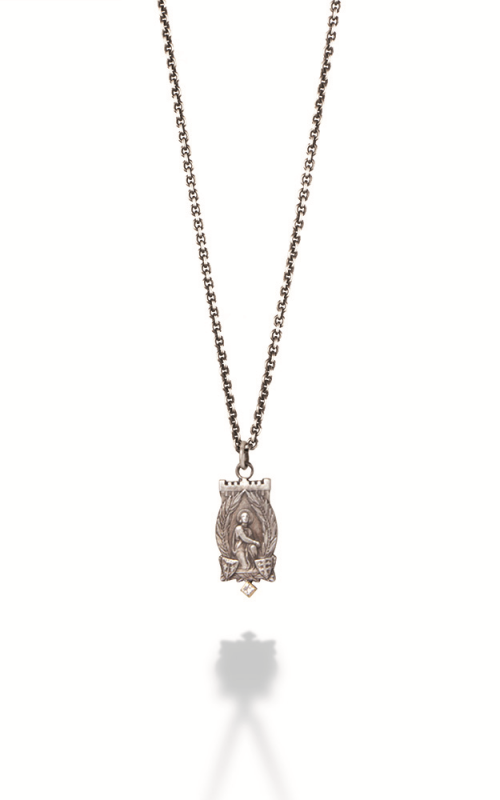 Brother Wolf Necklace KS40-SSD product image