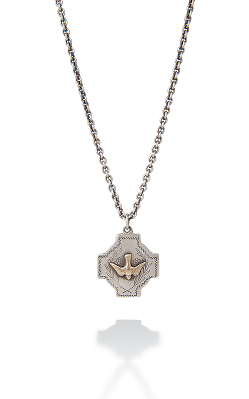 Brother Wolf Necklace KS59-SS product image