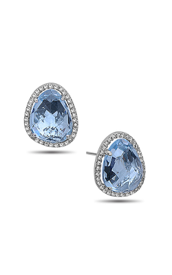 DILAMANI Rock Candy Blue Topaz & Diamond Stud Earrings AE81620BT-800W product image