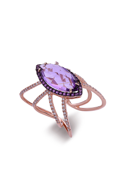 DILAMANI Rock Candy Amethyst & Diamond Lattice Ring AA17620AM-800R product image
