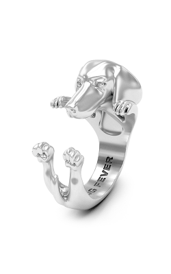 Dog Fever Hug Fashion ring DACHSHUND - LONG HAIR product image
