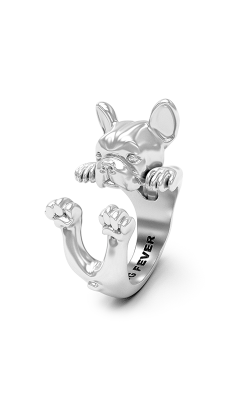 Dog Fever Hug Fashion Ring FRENCH BULLDOG product image