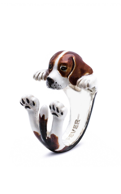 Dog Fever Enameled Hug Fashion Ring BEAGLE product image