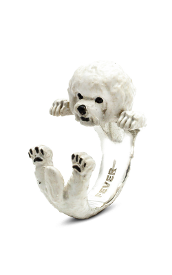 Dog Fever Enameled Hug Fashion Ring BICHON FRISE product image