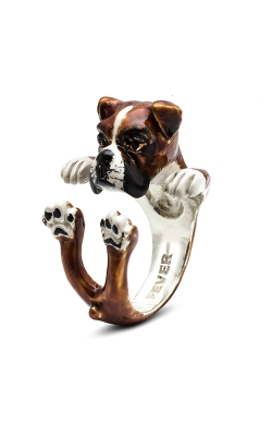 Dog Fever Enameled Hug Fashion Ring BOXER product image