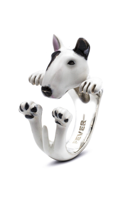 Dog Fever Enameled Hug Fashion Ring BULL TERRIER product image