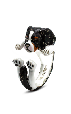 Dog Fever Enameled Hug Fashion Ring CAVALIER KING product image