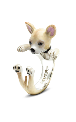 Dog Fever Enameled Hug Fashion Ring CHIHUAHUA product image