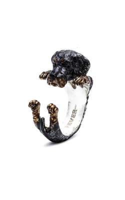 Dog Fever Enameled Hug Fashion Ring DACHSHUND TECKEL product image