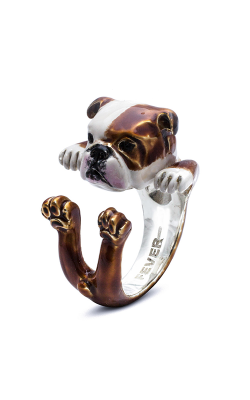 Dog Fever Enameled Hug Fashion Ring ENGLISH BULLDOG product image