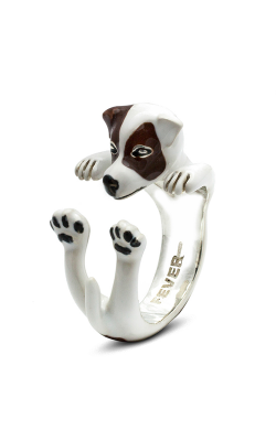 Dog Fever Enameled Hug Fashion Ring JACK RUSSELL product image