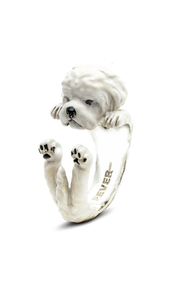 Dog Fever Enameled Hug Fashion Ring MALTESE product image