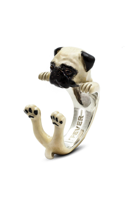 Dog Fever Enameled Hug Fashion Ring PUG product image