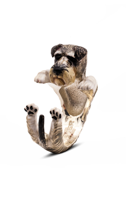 Dog Fever Enameled Hug Fashion Ring SCHNAUZER product image