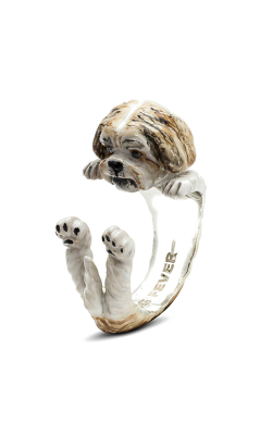 Dog Fever Enameled Hug Fashion Ring SHIH-TZU product image