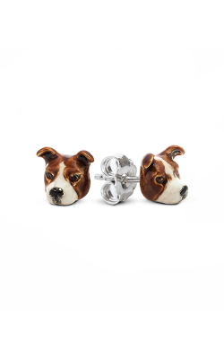 Dog Fever Enameled Head Earring AMERICAN STAFFORDSHIRE product image