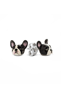 Dog Fever Enameled Head Earrings FRENCH BULLDOG product image
