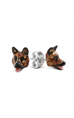 Dog Fever Enameled Head Earrings GERMAN SHEPHERD product image