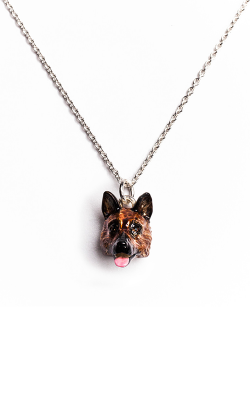 Dog Fever Enameled Head Necklace GERMAN SHEPHERD product image