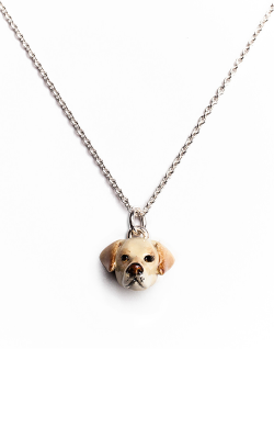 Dog Fever Enameled Head Necklace LABRADOR RETRIEVER product image
