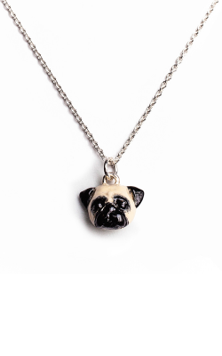 Dog Fever Enameled Head Necklace PUG product image