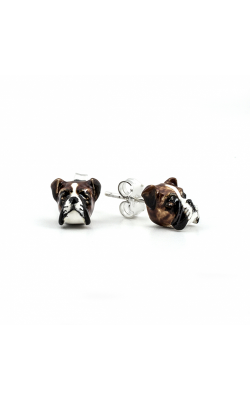 Dog Fever Enameled Head Earrings BOXER product image
