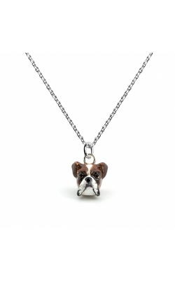 Dog Fever Enameled Head Necklace BOXER product image