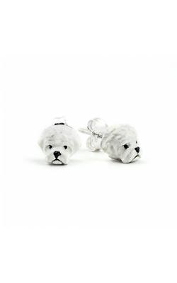 Dog Fever Enameled Head Earring MALTESE product image