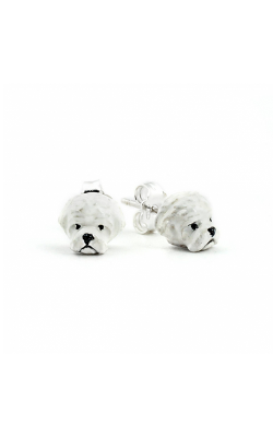 Dog Fever Enameled Head Earrings MALTESE product image