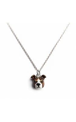 Dog Fever Enameled Head Necklace AMERICAN STAFFORDSHIRE product image