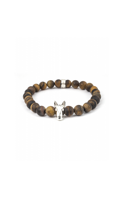 Dog Fever Tiger Eye Beads Bracelet BULL TERRIER product image